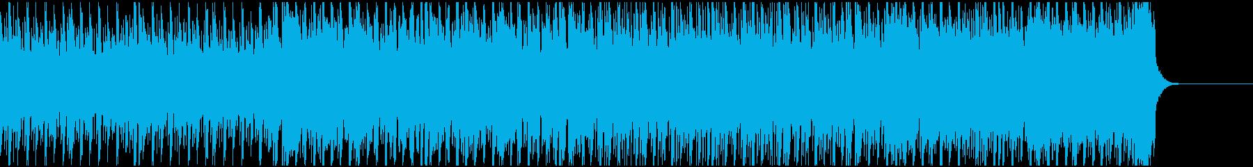 哀愁の雰囲気漂うディスコ調なEDMの再生済みの波形