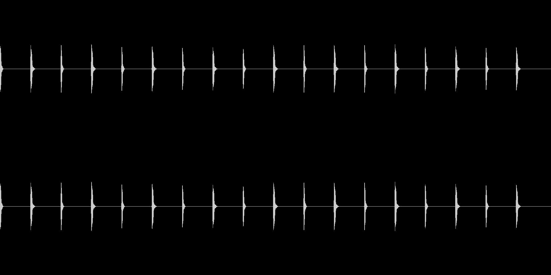 テクテク(足音)の未再生の波形