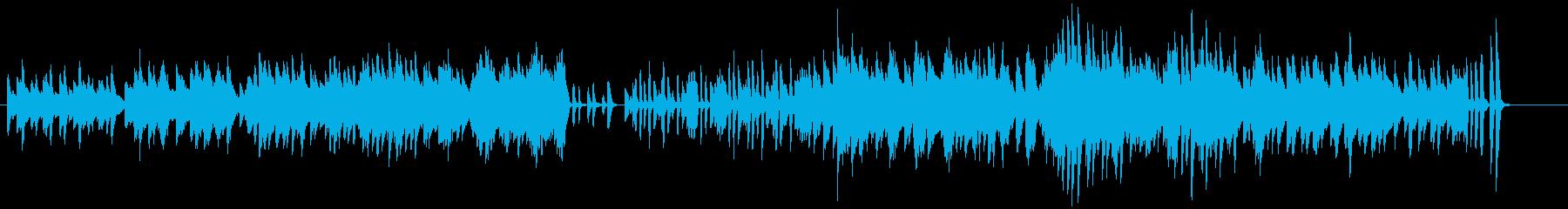 「スターワルツ」 かわいいピアノワルツの再生済みの波形