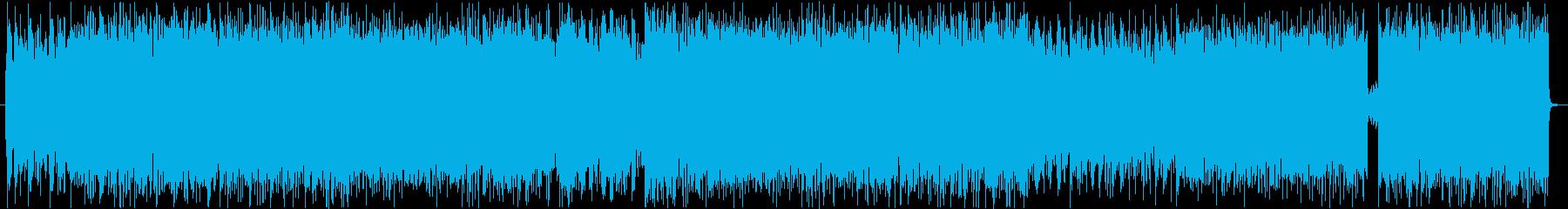 ヘヴィなリフが特徴的なギター曲の再生済みの波形