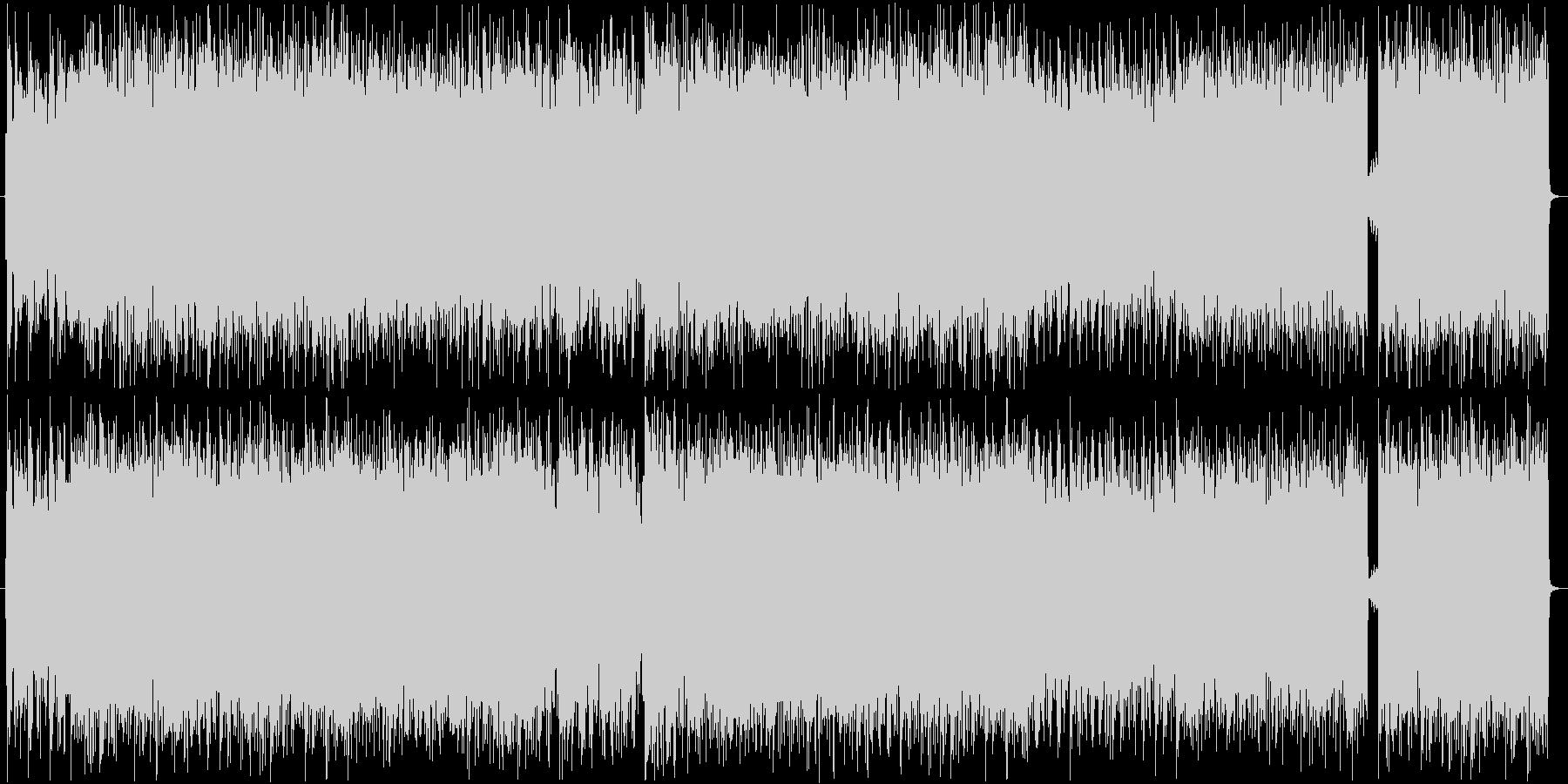 ヘヴィなリフが特徴的なギター曲の未再生の波形