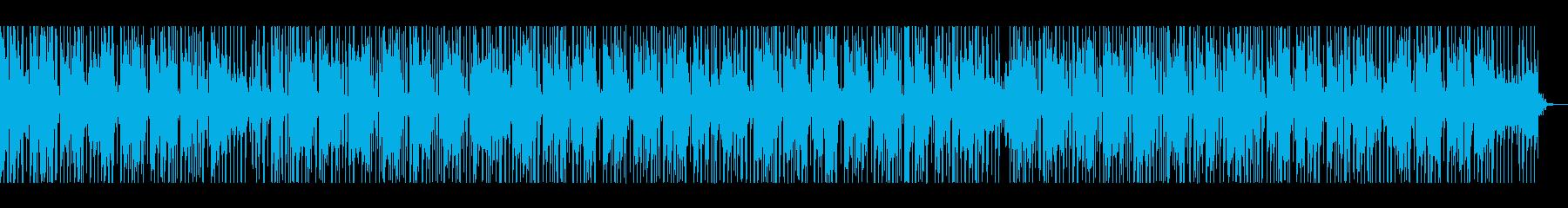 しっとりした印象のBGMの再生済みの波形