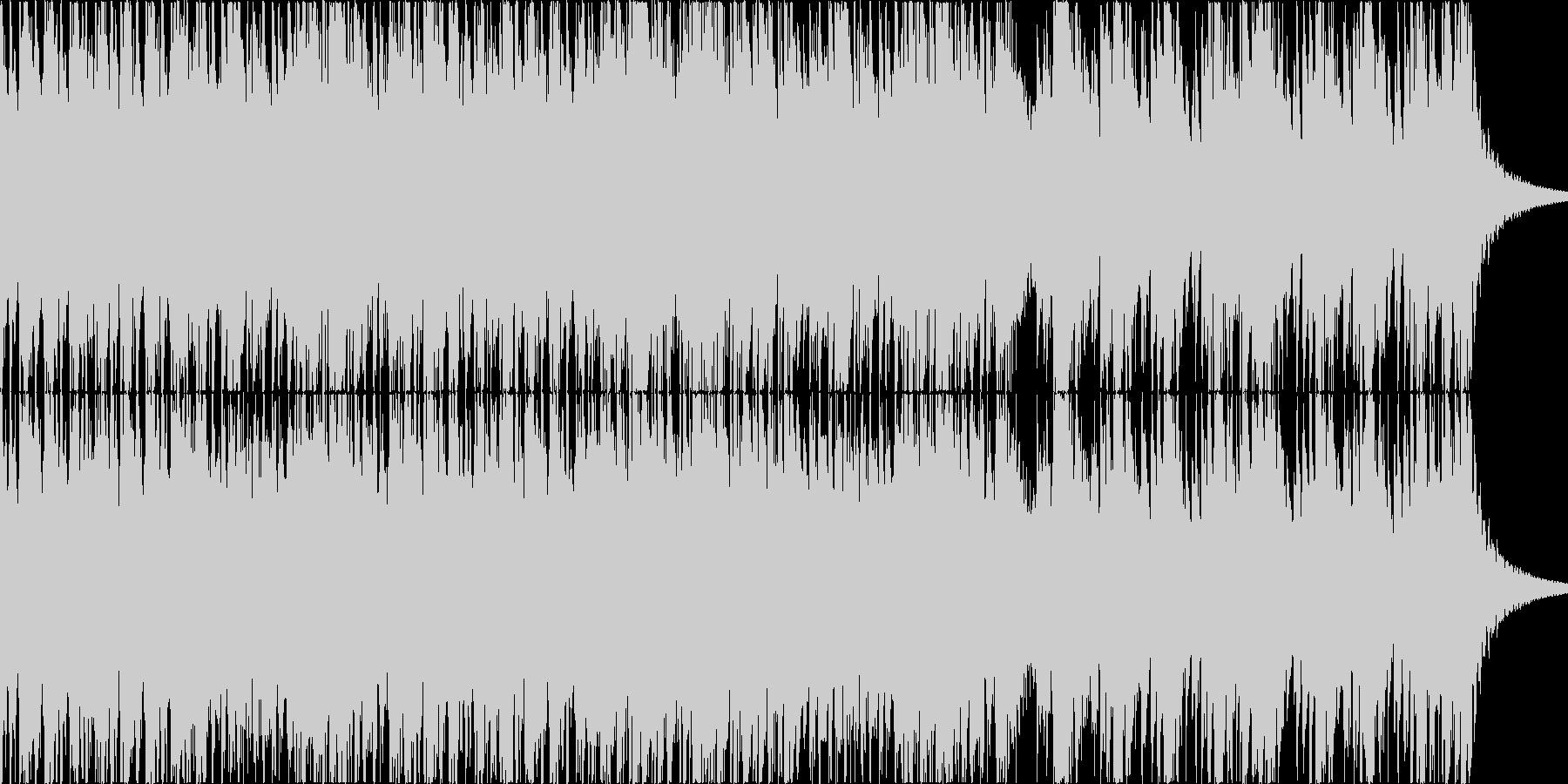 騎馬戦等をイメージした映画的な打楽器の曲の未再生の波形