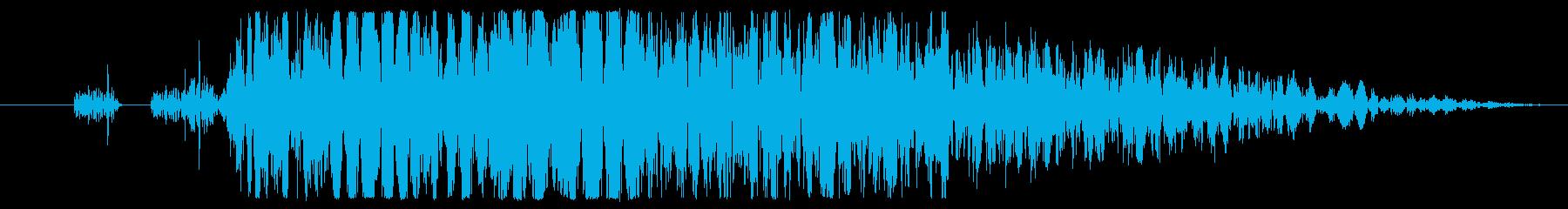 【打撃音01】パンチやキックに最適です!の再生済みの波形
