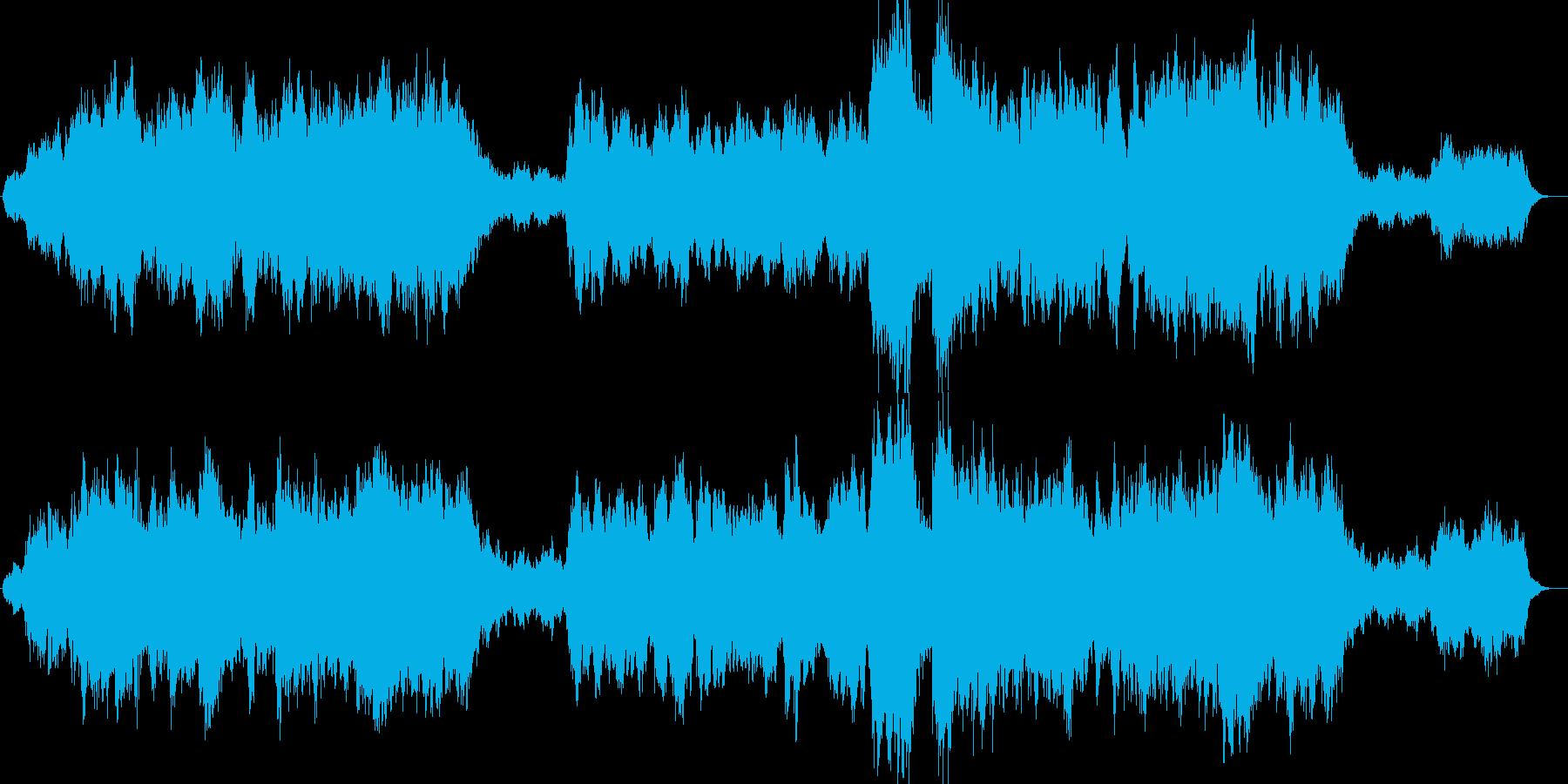 ダークでドラマチックな感動オーケストラの再生済みの波形