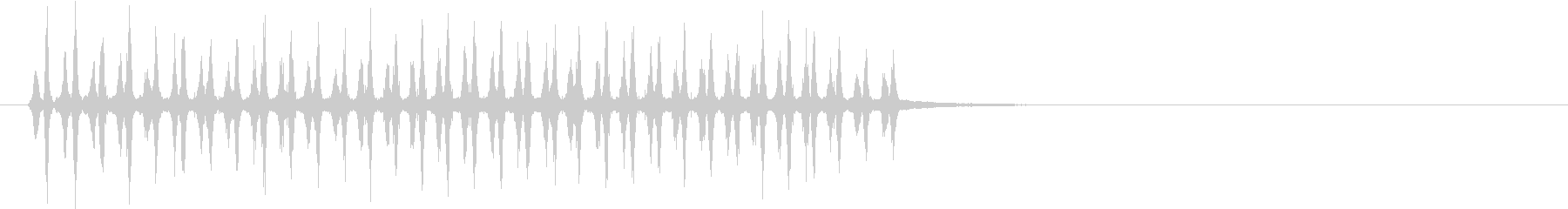 レインスティックを何度も振った音の未再生の波形