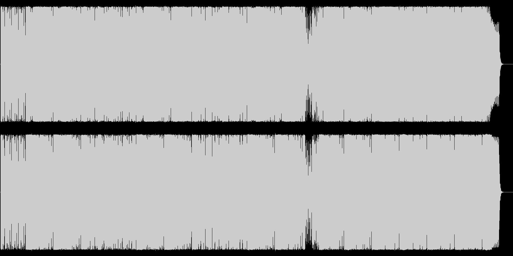 ヘヴィーな重厚ロックサウンドの未再生の波形