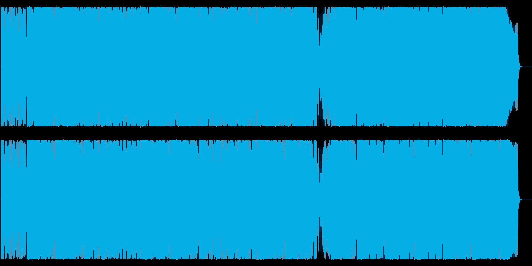 ヘヴィーな重厚ロックサウンドの再生済みの波形