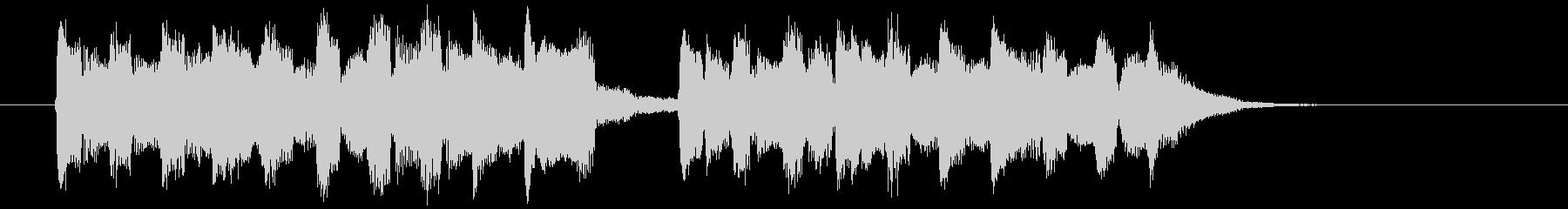 可愛らしい音色の不思議なワルツの未再生の波形