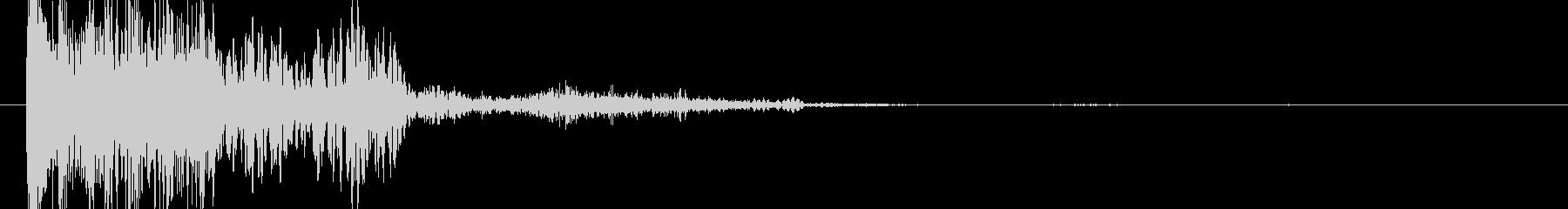 衝撃 ショット19の未再生の波形