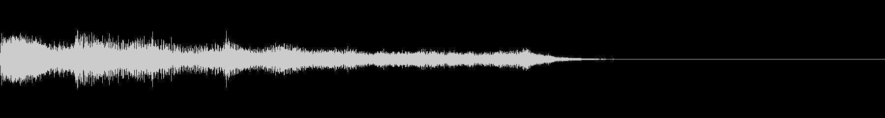 綺麗なコード感があるジングル曲の未再生の波形