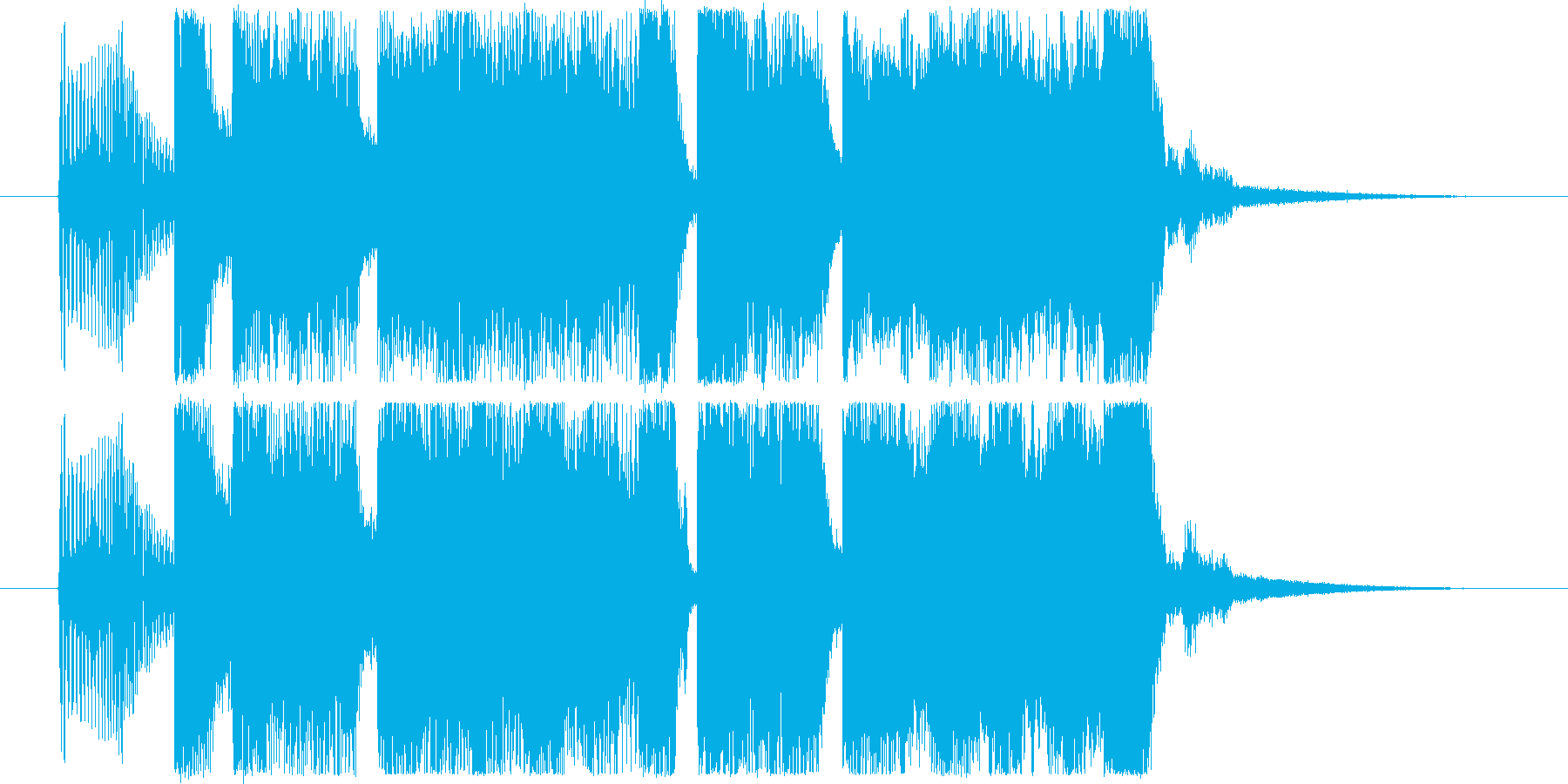 力強く勢いのあるファンクロック風ジングルの再生済みの波形