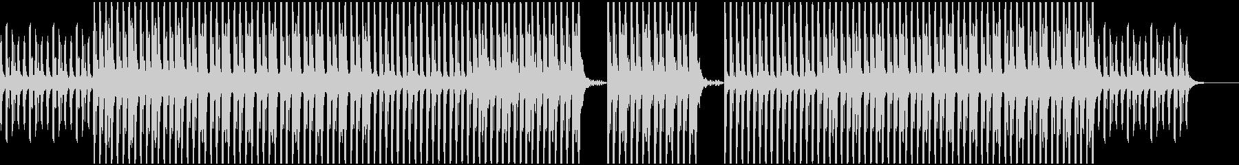 ご機嫌な様子のテクノサウンドの未再生の波形