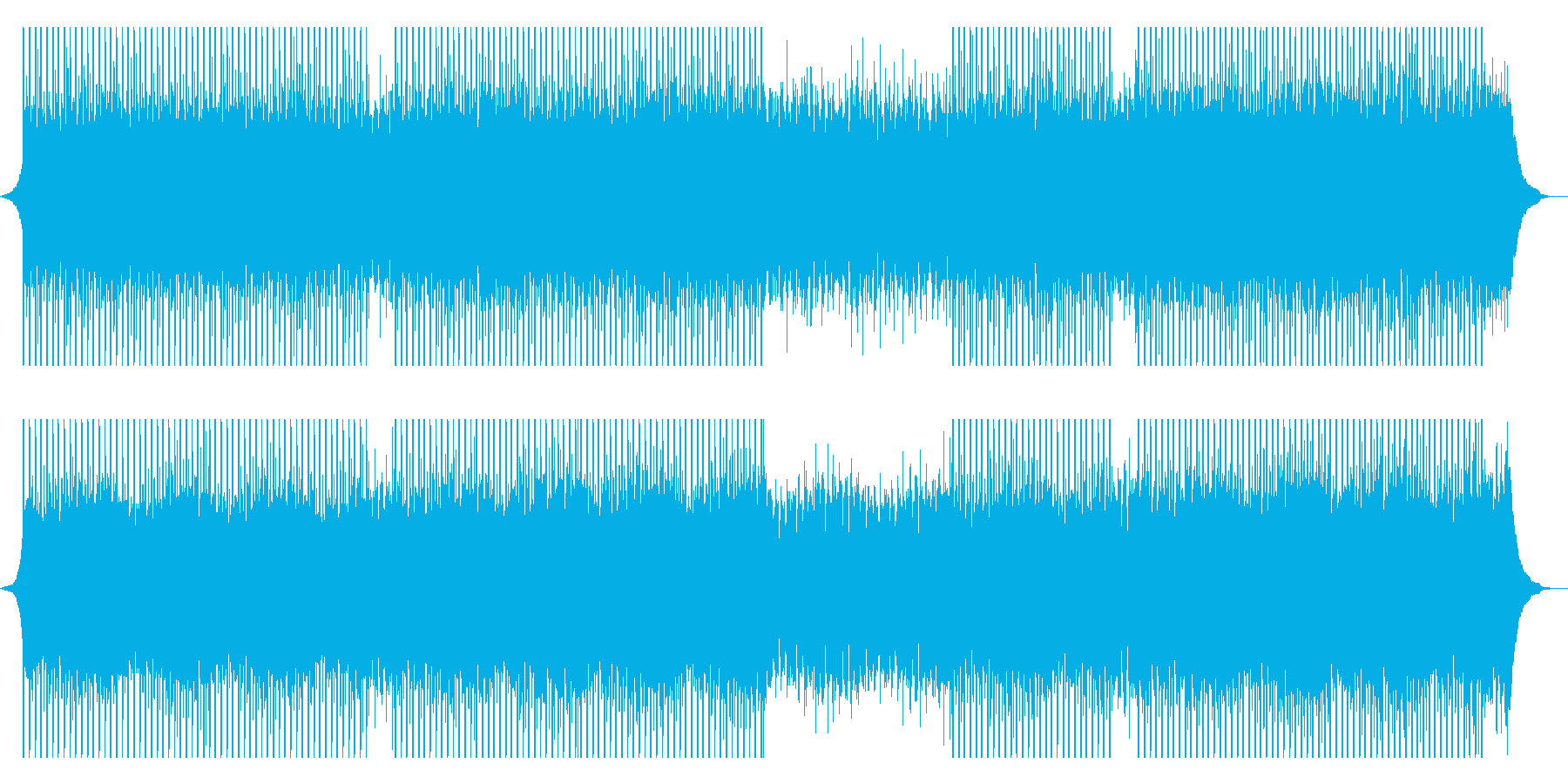 現代のコーポレートの再生済みの波形