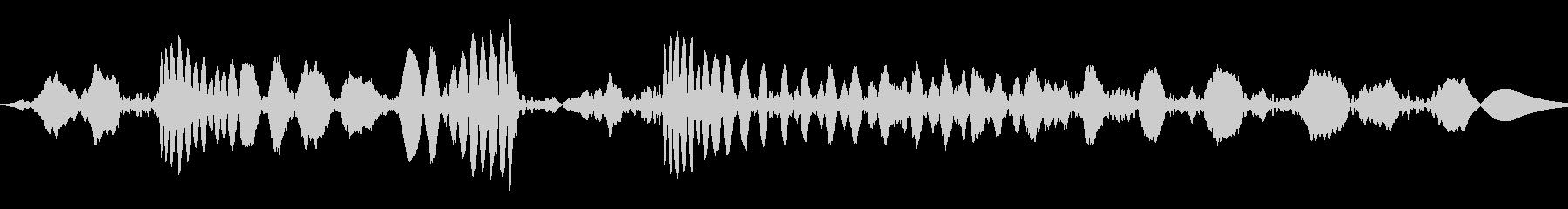 ジュクジュー:レコードのスクラッチの未再生の波形