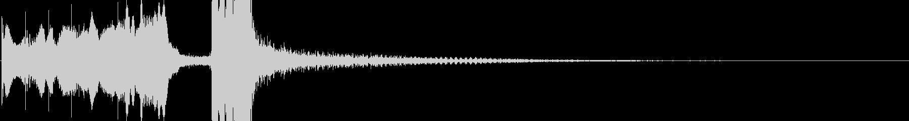 アコーディオンの不思議なジングルの未再生の波形