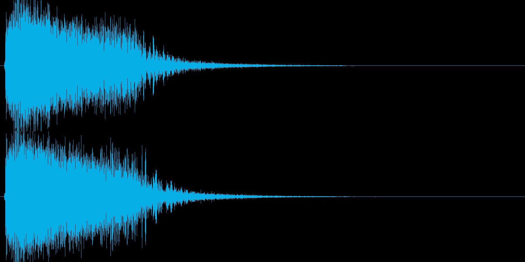 インパクト、衝撃、ヒット音です。『ジャ…の再生済みの波形