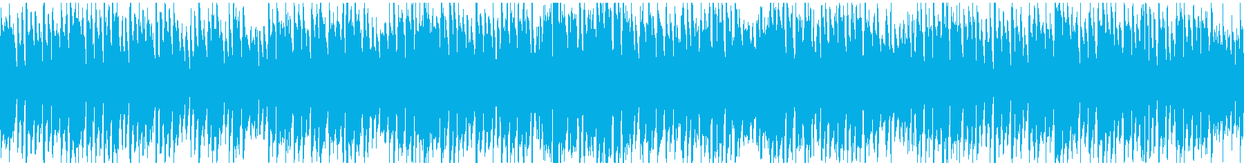 コメディ系の管楽器ポップス劇伴※ループ版の再生済みの波形