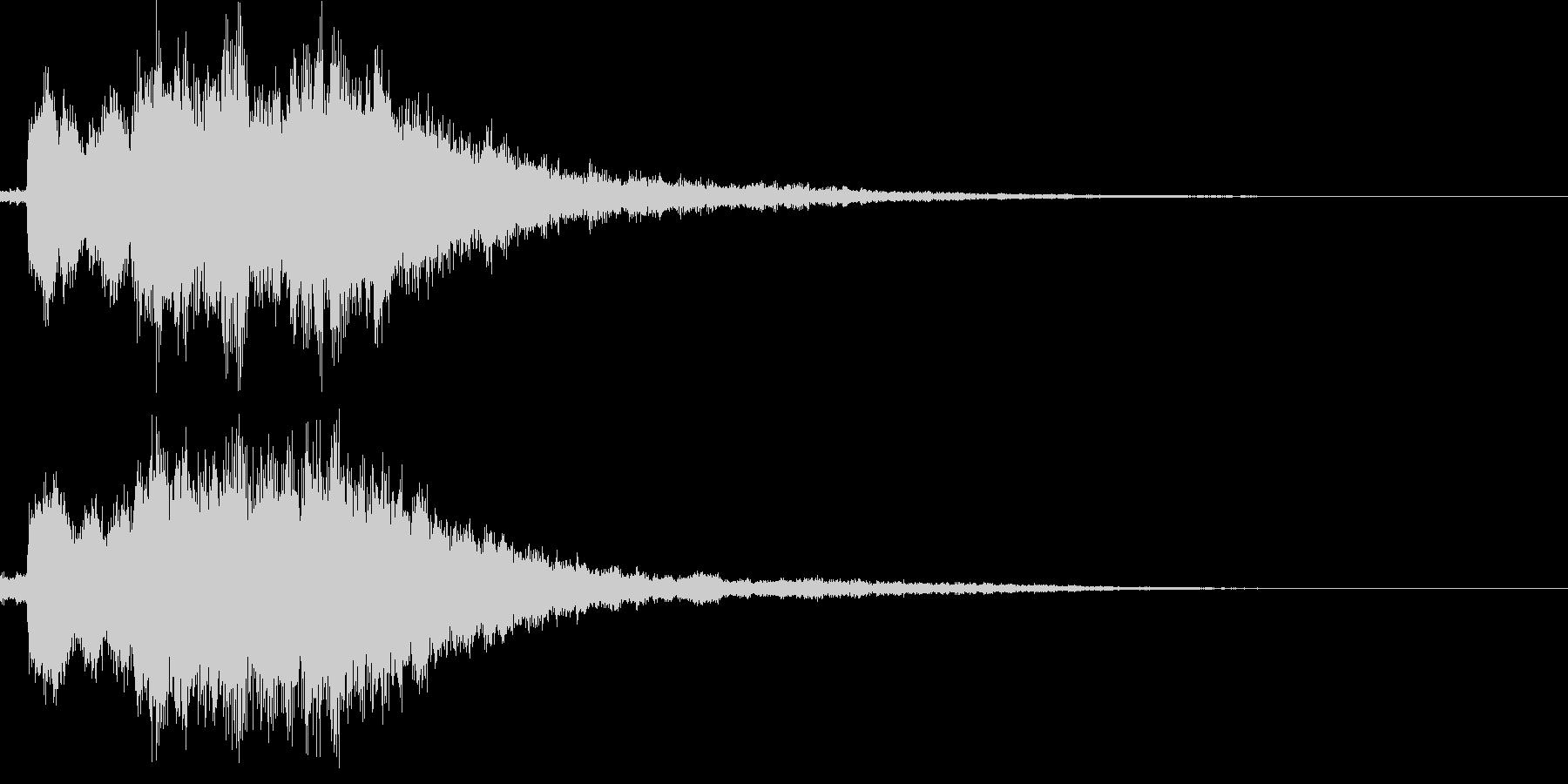 決定音(可愛らしい音)の未再生の波形