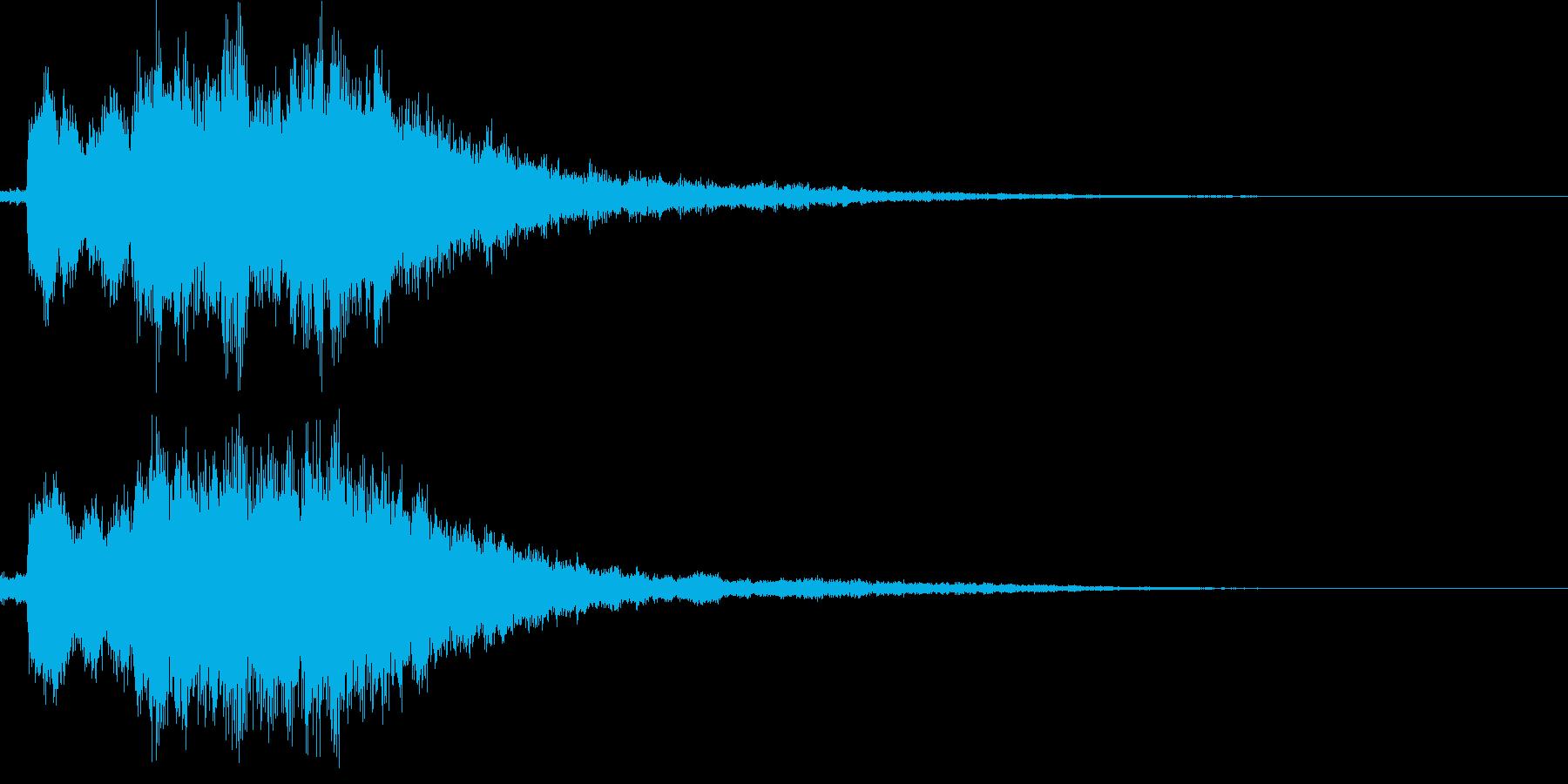 決定音(可愛らしい音)の再生済みの波形