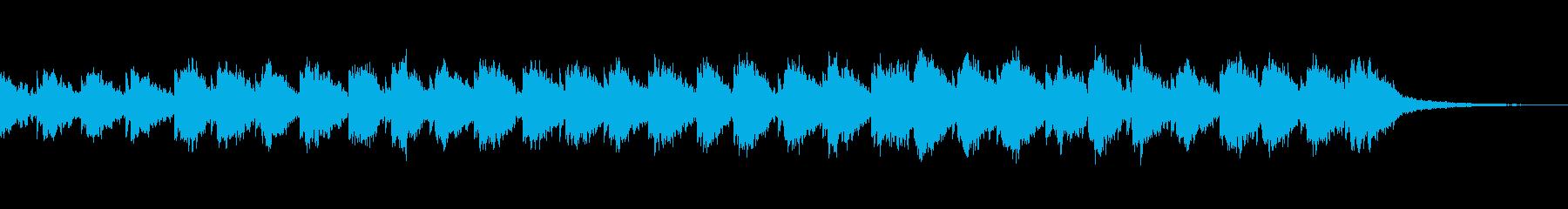 ギターとピアノ音によるアンビエントの再生済みの波形