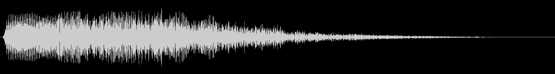 タラタラ〜ン(水の流れを感じる効果音)の未再生の波形