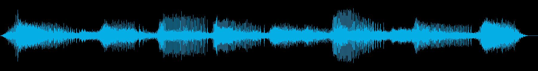 ひぐらしの鳴き声/カナカナカナ/蝉/夏の再生済みの波形