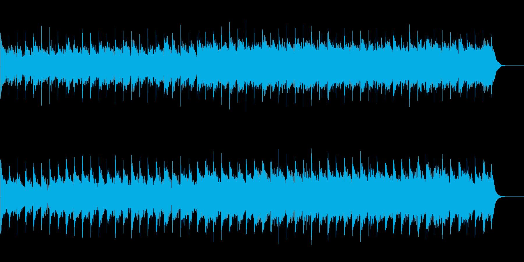 ギターと笛の民族調ファンタジーの曲の再生済みの波形