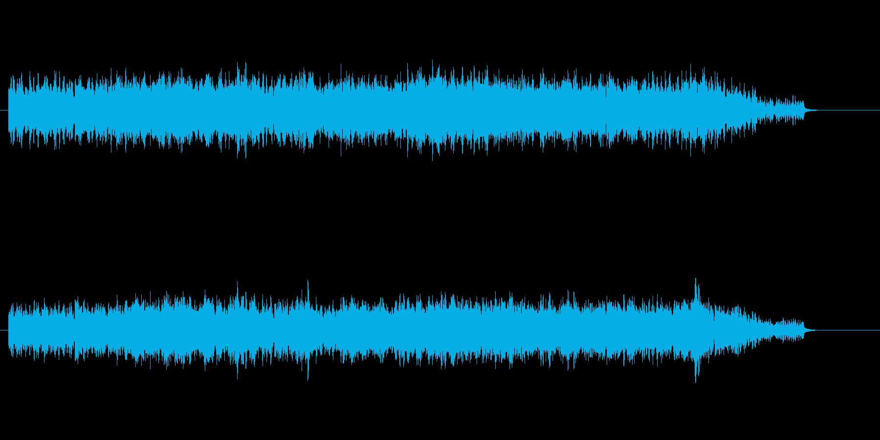無機質な感じの環境音楽の再生済みの波形