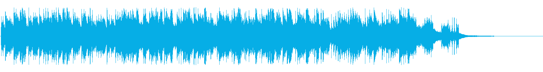 おしゃれなピアノのロック曲の再生済みの波形