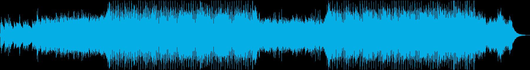 少し冷たい雰囲気のチルアウトBGMの再生済みの波形