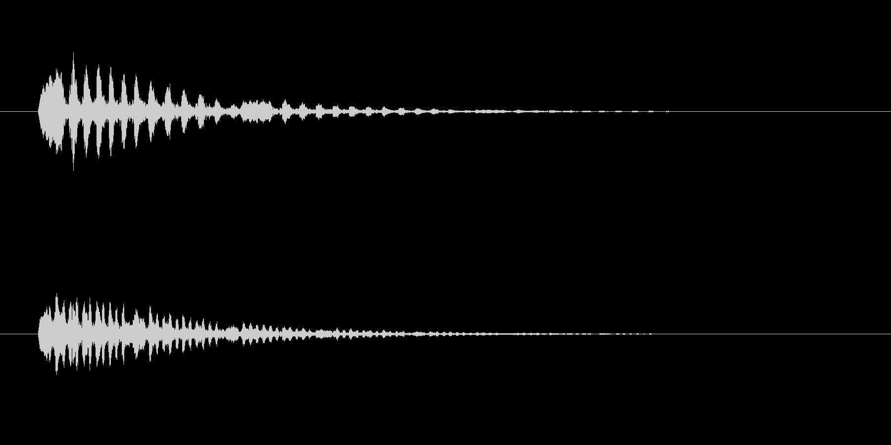 鳥のつぶやき、鳴き声などの音 SE1の未再生の波形