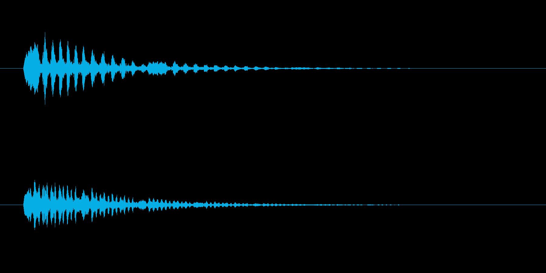 鳥のつぶやき、鳴き声などの音 SE1の再生済みの波形
