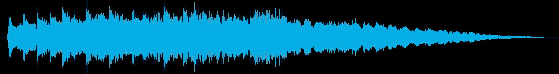 琴・尺八、風流で伝統的な純和風ロゴの再生済みの波形