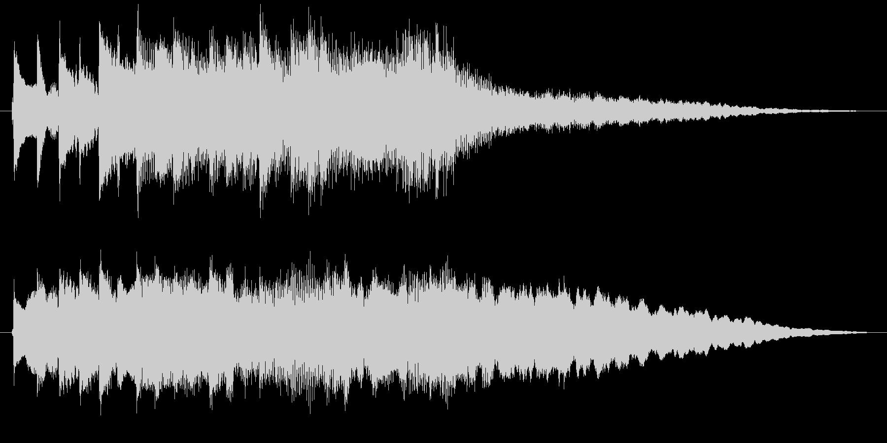 琴・尺八、風流で伝統的な純和風ロゴの未再生の波形