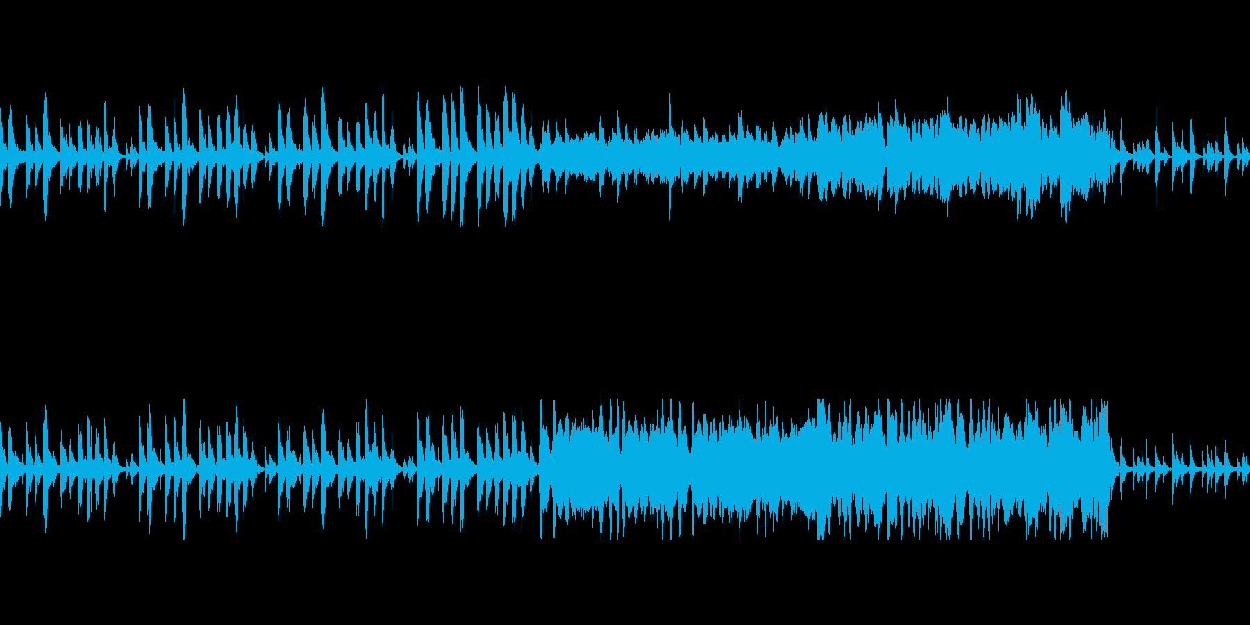 ほのぼのした残念系リザルト曲の再生済みの波形
