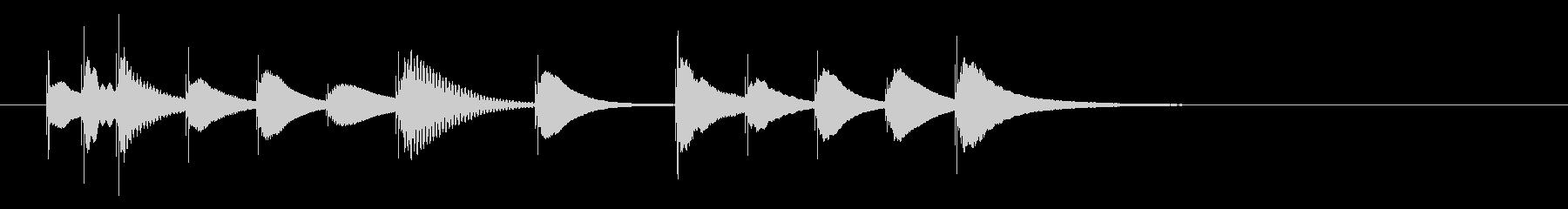 明るく可愛らしい木琴のジングル2の未再生の波形
