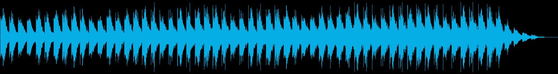 ピアノとギターの癒し系アンビエントの再生済みの波形