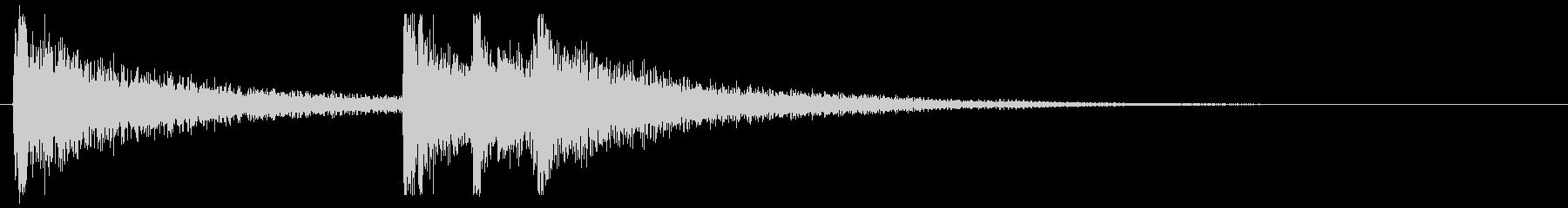 シンプルな和楽器のジングル。の未再生の波形