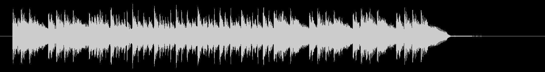 ドラムと電子音の立体的な組み合わせの未再生の波形