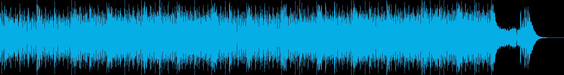 軽快なシンセメロのギターロックポップの再生済みの波形
