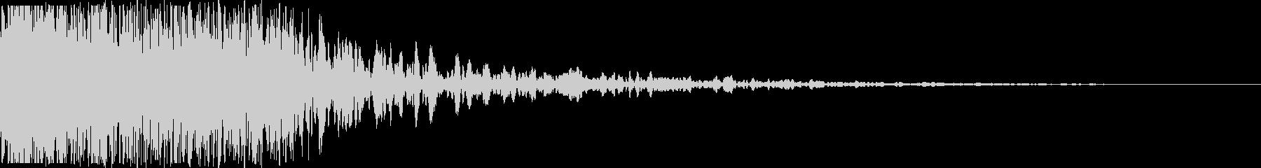 【本物】戦車砲(迫力ある重低音)の未再生の波形