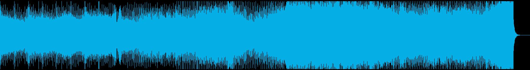 静かで重い雰囲気から始まるトランステクノの再生済みの波形