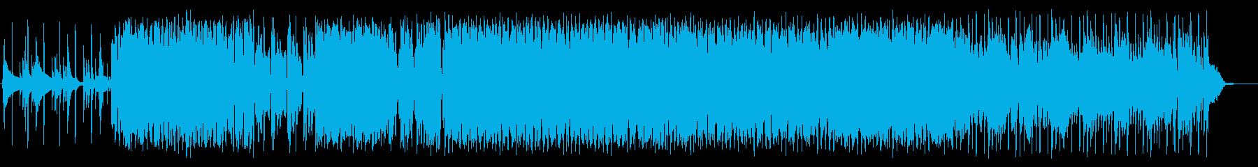 EDMっぽさもあるポップス風BGMの再生済みの波形