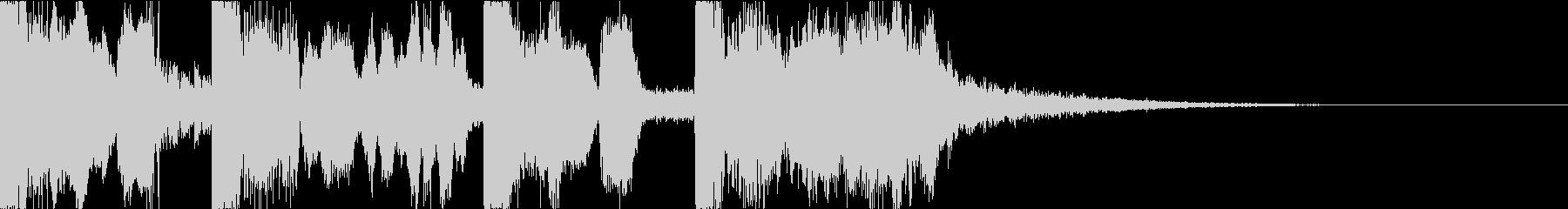 ボーカルチョップの都会的ポップジングルdの未再生の波形