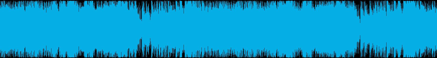 ハロウィン・ホラー・ドラキュラ風楽曲の再生済みの波形