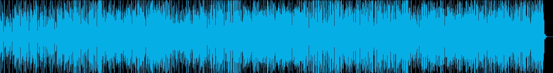 ピアノと加工したボーカルによる明るい楽曲の再生済みの波形