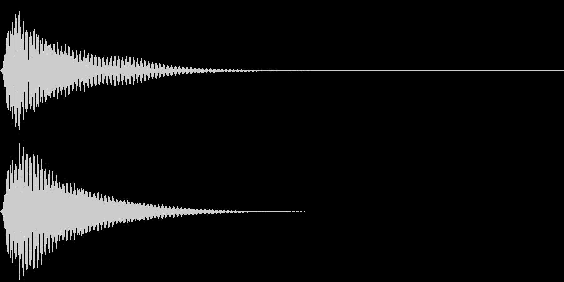 キュイン ボタン ピキーン キーン 20の未再生の波形