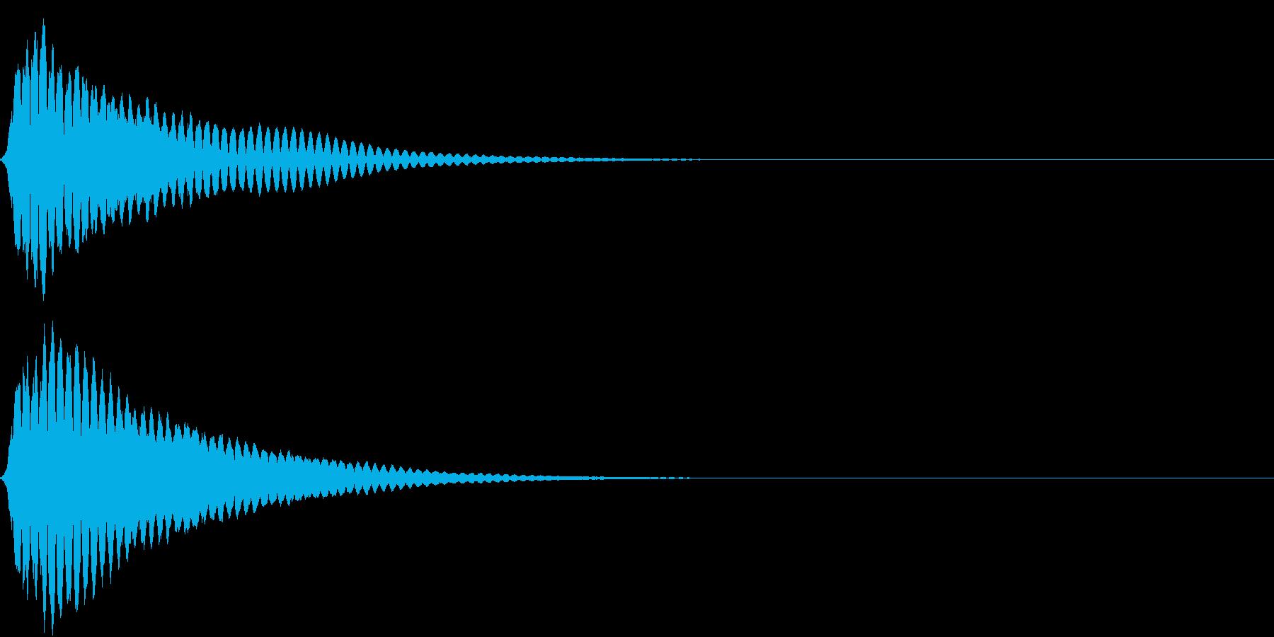 キュイン ボタン ピキーン キーン 20の再生済みの波形