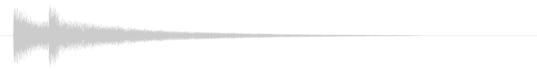 SF/ピコン↑/電子/決定音の未再生の波形